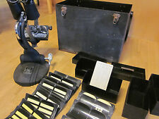 Vintage WWII Stereoscopic Tester M1A1 Military Field Item Most Components RARE