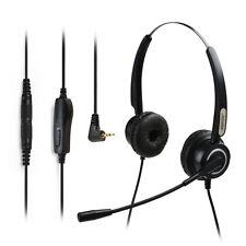 AGPtek Hands-free 2.5mm Binaural Telephone Headset with Noise Canceling Mic Mute