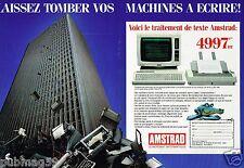 Publicité Advertising 1986 (2 pages) Ordinateur et Imprimante Amstrad