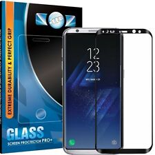 FULL 3D COVER TEMPERED GLASS SCREEN PROTECTOR FOR SAMSUNG GALAXY S8 PLUS BLACK