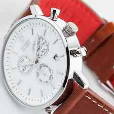 MENS DETOMASO MILANO  CHRONOGRAPH WATCH BROWN LEATHER SWISS MOVEMENT NEW