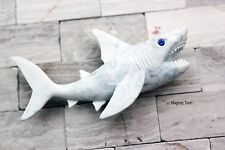 BRAND NEW CLAY CRITTERS MAGNET - GREAT WHITE SHARK w/ Swarovski Crystal Elements