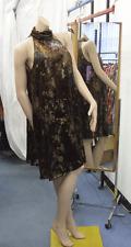 Vestido de noche Joseph Ribkoff BNWT 10 impresionantes Metálico Anudado Cloche estilo