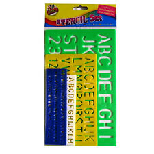 Lettering Stencil Pack - 4 Piece - With Different Size Lettering - by Artbox