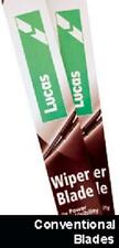 ALFA ROMEO 147 HATCH 2001-2007 LUCAS CONVENTIONAL WINDSCREEN WIPER BLADES (PAIR)