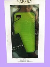 RALPH LAUREN Lime Ban-bury Snake Leather iPhone4 Cover Case Msrp $34 *New in Box