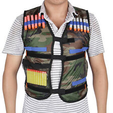 Tactical Vest Kids Toy Gun Clip Jacket Foam Bullets Ammunition Holder For Nerf