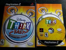 """""""DISNEY THINK FAST The Ultimate Trivia Showdown"""" PlayStation 2/PS2 Game Only"""