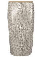 Dorothy Perkins Embellished Sequin  Two Tone Pencil Skirt 18   Multi
