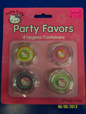 Hello Kitty Retro Sanrio Kids Birthday Party Favor Plastic Lip Gloss Containers