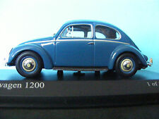 VW 1200 Beetle from 1953 in Blue a new release from MINICHAMPS 1:43 rd scale