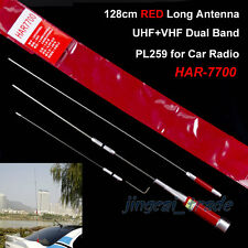 Cool! Red 128cm Long High Gain HAR-7700 DUAL BAND Antenna PL259 for Car Radio