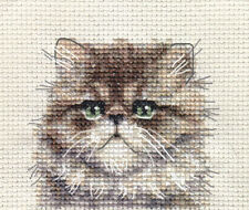 PERSIAN CAT, KITTEN ~ Full counted cross stitch kit + All materials