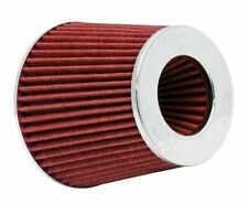 """K&N Universal Air Filter Chrome Round Tapered Red - 4"""" Flange ID x 1.125"""" Flange"""