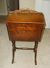 RARE Vintage Antique Wooden Sewing Box Ferguson Bros. # 5105 Lot 237 With Tray