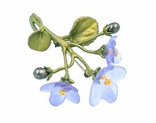 SILVER SEASONS BY MICHAEL MICHAUD ⚜ AFRICAN VIOLET PEARL & GLASS PIN  5819