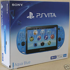 PS Vita PCH-2000 ZA23 Aqua Blue Wi-Fi Console Sony PlayStation Japan Model New