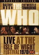 Who: Live at the Isle of Wight Festival 1970 (2006, DVD NEUF) Incl. Bonus Tracks