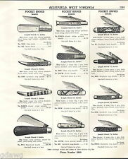 1941 ADVERT 4 PG Boker Tree Brand Pocket Knife Knives 45 Images Styles German