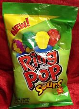 Ring Pop SOURS Candy 1 Bag containing 4 Ring Pops BRAND NEW SEALED BAG FRESH
