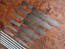 DD/071-Br  CUSTOM HAND MADE DAMASCUS BLANK BLADE 6 PCS KITCHEN/CHEF KNIFE SET