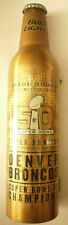 Bud Light Limited Gold Edition Denver Broncos Super Bowl 50 Champions 2015 Alu