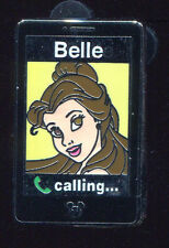 WDW 2014 Hidden Mickey Princess Mobile Cell Phones Belle Disney Pin 102258