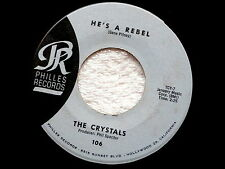 CRYSTALS~HE'S A REBEL~VG++~I LOVE YOU EDDIE~PHILLES RECORDS ~ POP 45