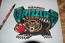 "Memphis Grizzlies Vintage 2001 - 2004 Seasons 8"" Large Jacket Patch Basketball"