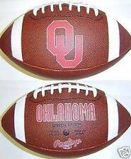 Oklahoma Sooners NCAA Team Logo Fotoball Rawlings Game Time Full Size Football
