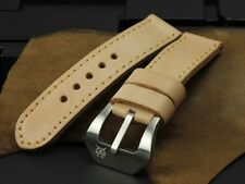 SV Natural Vintage/Veg Tan Leather 26mm Panerai Watch Strap LV1 for 45mm 47mm