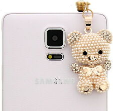 Bear Cell Phone Charm Pendant Dust Plug Cover IPhone Galaxy Note Mega