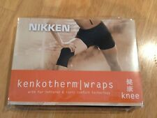 Nikken Kenko-Therm Knee Wrap = LARGE! Brand New! Black -knee support -int'l ship