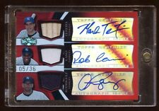 MARK TEXEIRA ROBINSON CANO AROD TRIPLE AUTO #D/36 GAME BAT/JERSEY/JERSEY YANKEES