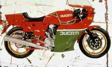 Ducati 900MHR 1980 Aged Vintage SIGN A3 LARGE Retro