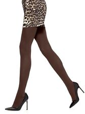 HUE Super Opaque NON-CT Tights Espresso Brown NWT size 3