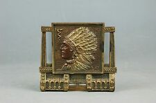 Antique Iron Bronze American Indian Chief BOOK END adjustable BOOKRACK Judd 9819