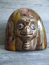 Vtg Retro Ceramic ET Extra Terrestrial Hand Painted Statue E T Movie Character