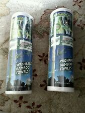 Lot of 2. Bambooee Washable Bamboo Towels - 20 Sheets x2 =40 Sheets