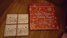 christmas kisses and holiday hugs candy and snack tray square cute nice