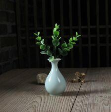 Chinese Longquan Porcelain Handmade Ware Beautiful Vase Di Kiln 10*6cm