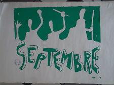 """Affiche originale Mai 68 """"Septembre"""" P1617"""