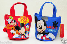 12 PCS Mickey Mouse Club Candy Bags Mini Coin Purse Tote Bags Disney Party Favor