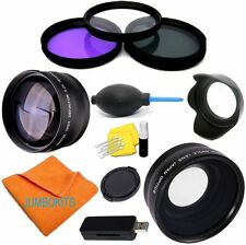 55MM WIDE ANGLE + TELEPHOTO + ACCESSORIES FOR SONY ALPHA A330 A900 A750 A800