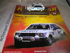 DeAgostini RALLY AUTO COLLECTION questione 38 1981 TALBOT SUNBEAM Guy FREQUELIN Jean
