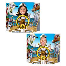 Captain's Wheel Photo Prop - 94 x 64 cm - Nautical Decoration Cutouts