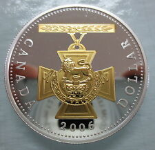 2006 CANADA VICTORIA CROSS PROOF SILVER DOLLAR WITH GOLD