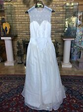 New Vera Wang Silk Lace Flower Embroidered Bridal Gown Newman Marcus - $4625 8US