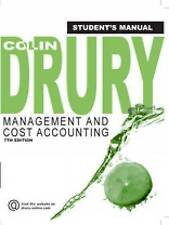 Management and Cost Accounting, Student Manual, Colin Drury, Used; Good Book