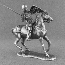 Miniature Toy Soldier Medieval 1/32 Cavalry Knight with Sword Battle Tin 54mm
